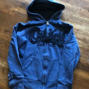 Oshkosh zip up hoodie, size 8